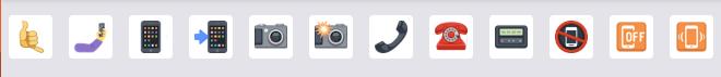Biểu tượng facebook hotline liên hệ phone number