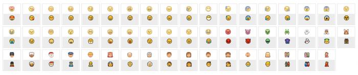 Biểu tượng cảm xúc vui buồn mặt cười khóc