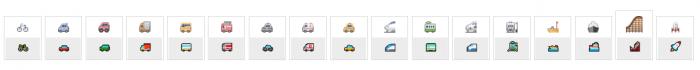 Icon facebook phương tiện đi lại ô tô xe máy