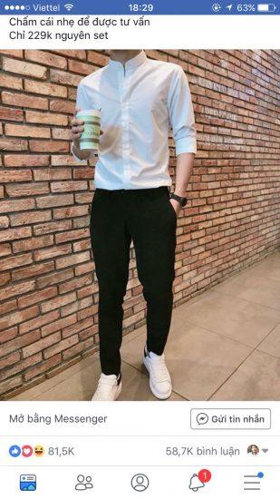 Mẫu quảng cáo quần kaki nam