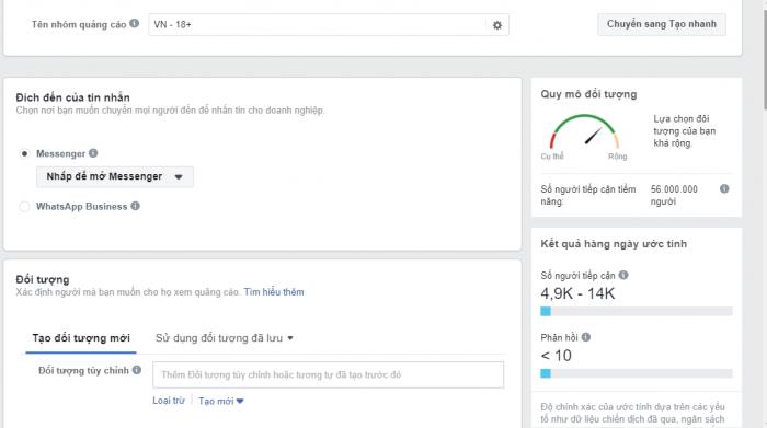Đặt tên nhóm quảng cáo facebook