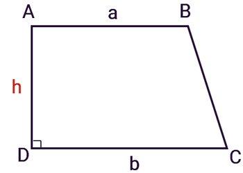 Công thức Diện tích hình thang vuông