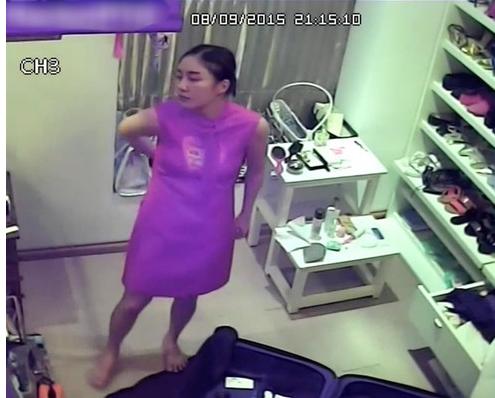 Đây là hình ảnh Văn Mai Hương bị lộ clip trong trích xuất camera