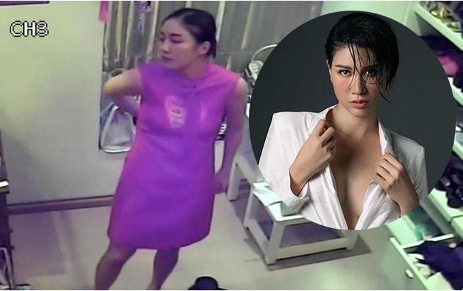Hình ảnh so sánh clip trong camera và ngoài đời của Văn Mai Hương