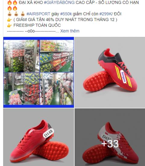 Mẫu quảng cáo giày bóng đá đẹp