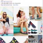 Mẫu quảng cáo giày đẹp trên Facebook bạn tham khảo