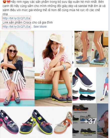 Mẫu quảng cáo facebook giày nữ đẹp thu hút