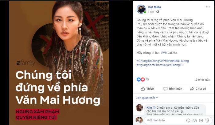 Các nghệ sỹ bầu show đã lên tiếng bảo vệ Văn Mai HƯơng