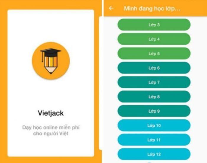 Ứng dụng Vietjack trên di động giúp bạn dễ dàng học tập mọi lúc, mọi nơi