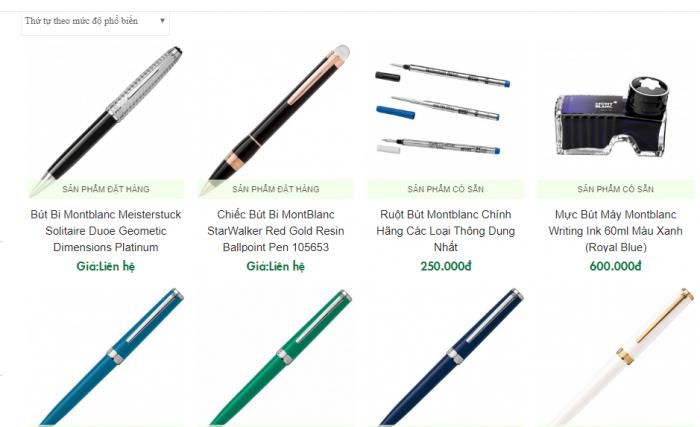 Bút Montblanc chính hãng tại tphcm