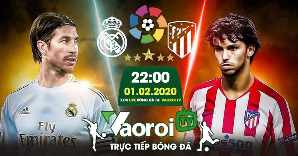 Link xem trực tiếp bóng đá Atletico Madỉd gặp Real Madrid