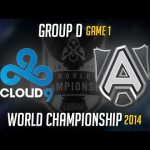 C9 vs Alliance Game 1 S4 Worlds   LoL World Championship 2014 Group D Cloud 9 vs ALL