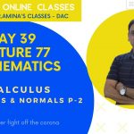 Day39 | L77- Online classes for Class 12(Boards+Competitive)| Maths-Calculus-Tangents & Normals P-2