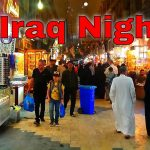 Traveling Iraq Night Time Najaf City Streets Walk Middle East