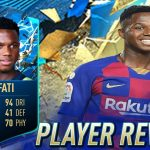 Review Ansu Fati of FC Barcelona | FIFA MOBILE 20