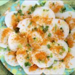 Banh Beo Tom Chay (Steamed Rice Cakes With Dried Shrimp)