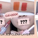 Swatch & Review ESSANCE LIP ROUGE VELVET + So sánh với 3CE Clear Layer | Trang & Tiên