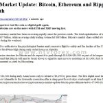 Cryptocurrency Market Update Bitcoin, Ethereum and Ripple gets ready to resume the growth
