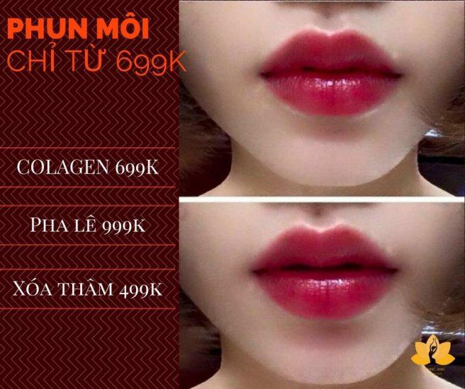 Mẫu quảng cáo phun xăm môi Collagen cực đẹp