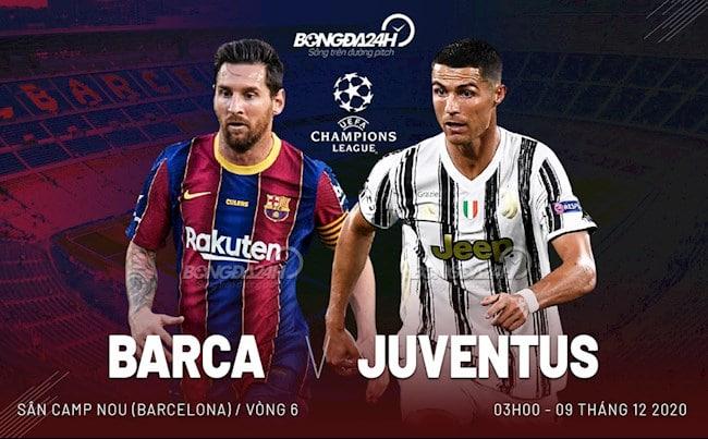 Trực tiếp C1 châu Âu 2020 Barcelona gặp bà đầm già Juventus hội ngội Ronaldo và Messi
