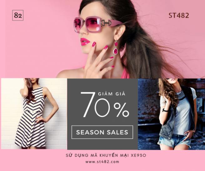 Mẫu quảng cáo khuyến mãi dành cho sản phẩm thời trang áo quần
