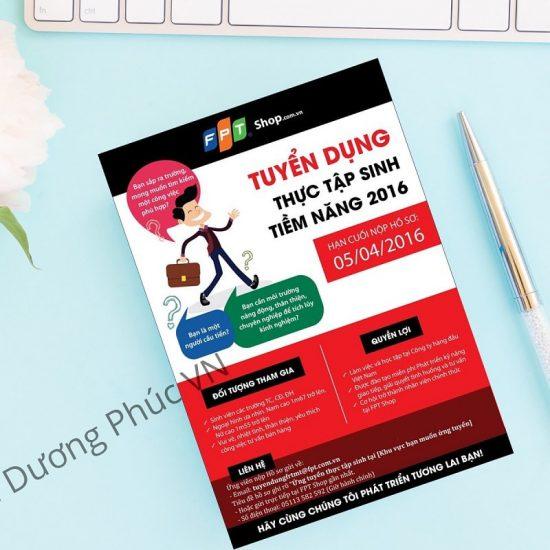 Mẫu quảng cáo tuyển dụng của công ty FPT