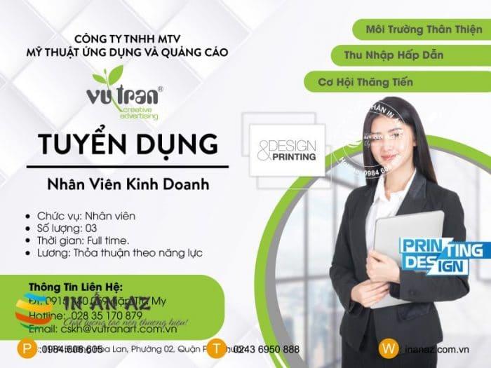 Mẫu quảng cáo tuyển dụng nhân viên kinh doanh